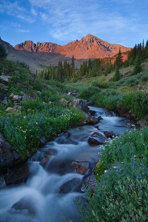 (MB-10025_27)  Along Pine Creek at sunrise - Elk Mountains, Colorado.