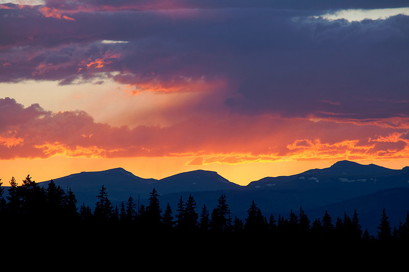 (SJ-10116) Sunset in mountains above Creede, Colorado.
