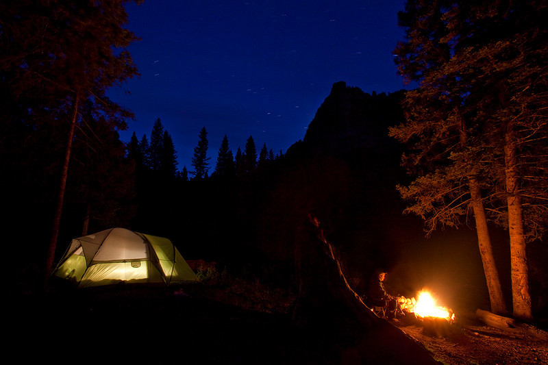 (SJ-10304)  High country campout - San Juan Mountains, Colorado.