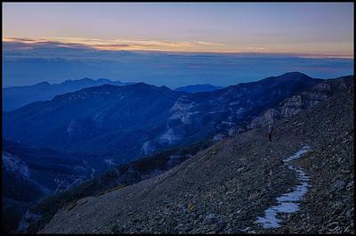 Summit of Mt. Charelston at sunrise