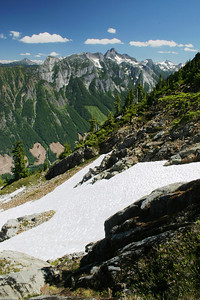 View of Mt. Slesse and the border mountains