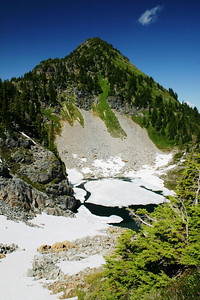 Third alpine lake...still frozen as well.