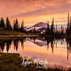 703  G Rainier and Tipsoo Lake Sunset Sharp