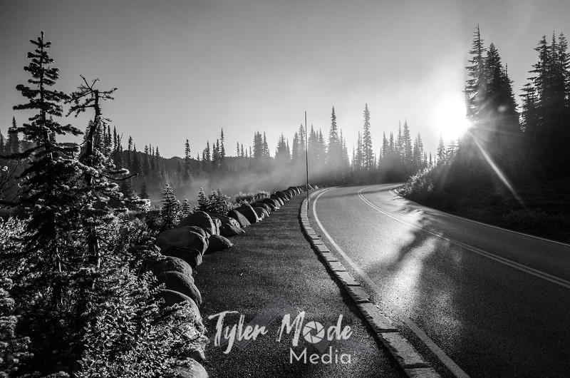 128  G Road Mist and Sun BW