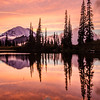 712  G Rainier and Tipsoo Lake Sunset Sharp V