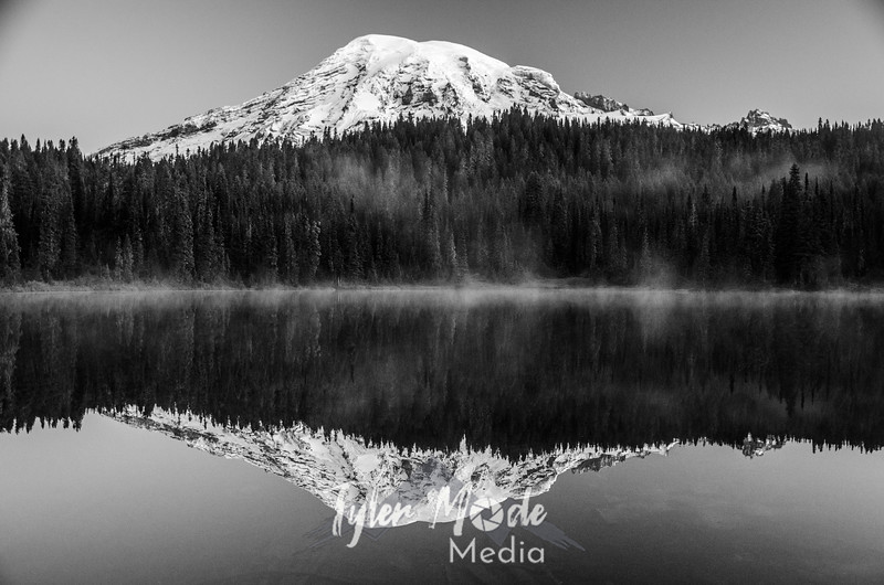 15  G Rainier and Reflection Lakes BW