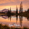 697  G Rainier and Tipsoo Lake Sunset
