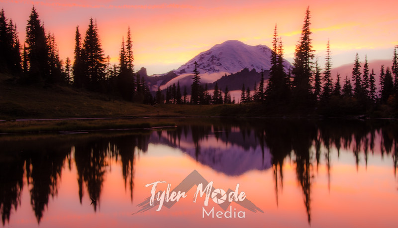 723  G Rainier and Tipsoo Lake Sunset Soft