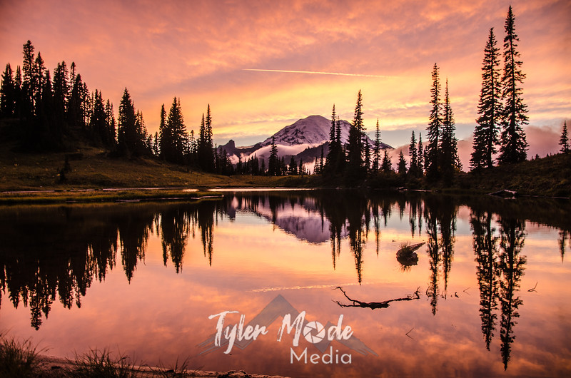 707  G Rainier and Tipsoo Lake Sunset Sharp