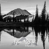 730  G Rainier and Tipsoo Lake Sunset Sharp BW