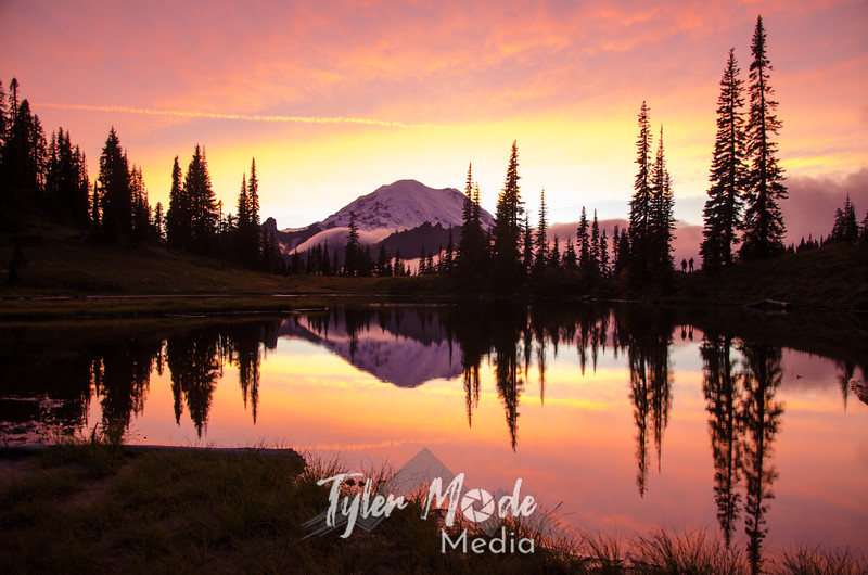717  G Rainier and Tipsoo Lake Sunset
