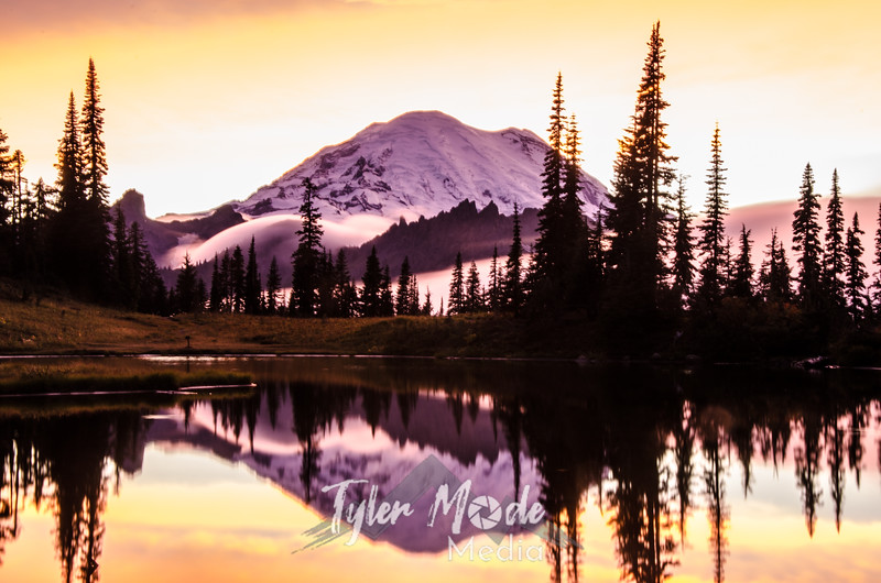 720  G Rainier and Tipsoo Lake Sunset Sharp