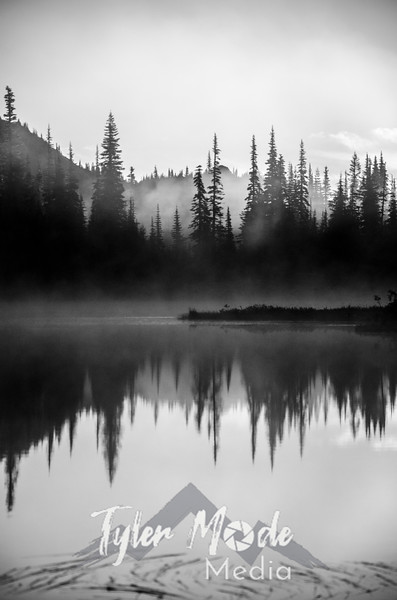 46  G Reflection Lakes Fog BW V