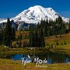 1024  G Rainier and Fall Colors Tarn