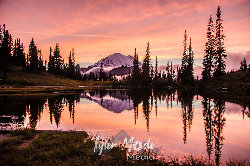 716  G Rainier and Tipsoo Lake Sunset Sharp