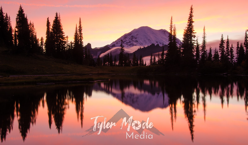 724  G Rainier and Tipsoo Lake Sunset