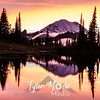 722  G Rainier and Tipsoo Lake Sunset Sharp