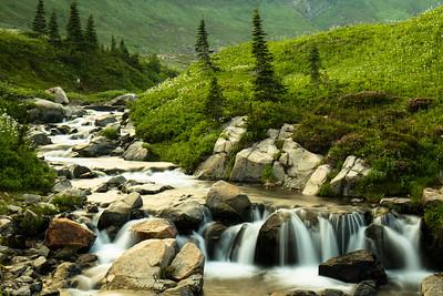 Edith Creek at Mount Rainier near Myrtle Falls
