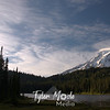 Rainier and clouds,