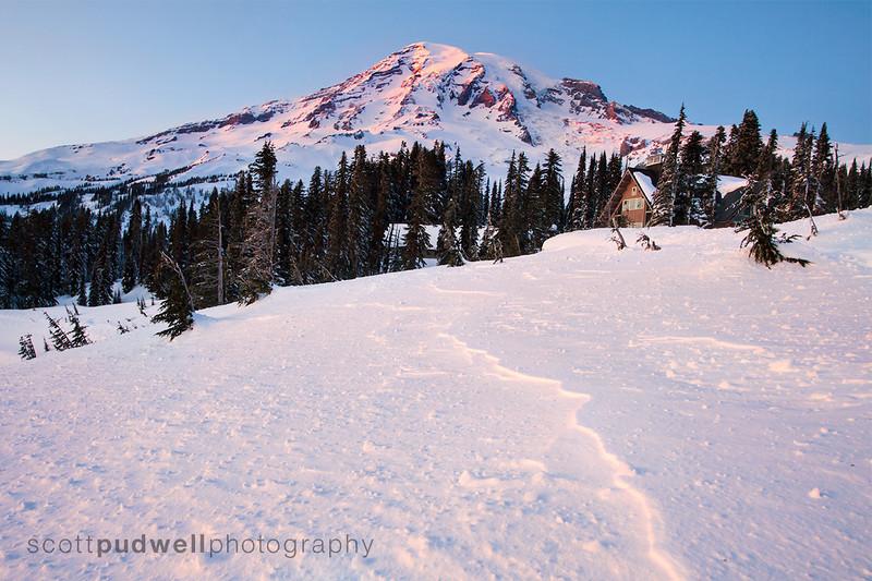 Winter View of Mt. Rainier