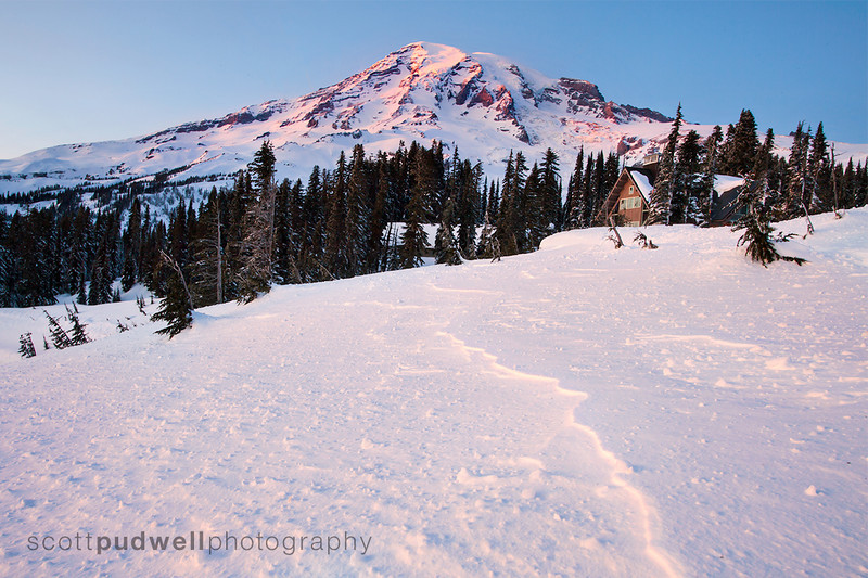 Winter View of Mt. Rainier