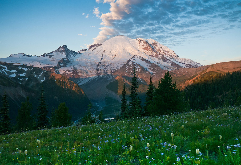Dawn, Mount Rainier, from Sunrise.