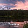 Reflection Lakes, sunset,
