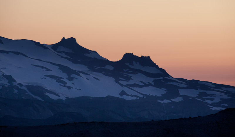 Sunset over the Northern flanks of Rainier