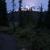 Rainier at trail at Reflection Lakes,