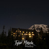 Big Dipper over Paradise Inn and Mount Rainier,