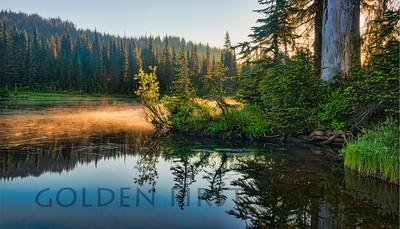 Sunrise at Reflection Lake, Mt Rainier National Park