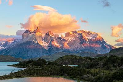 Torres Massif, Torres del Paine, Chile, Sunrise