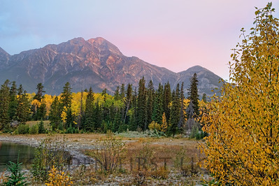 Pyramid Mountain and Patricia Lake, Jasper National Park