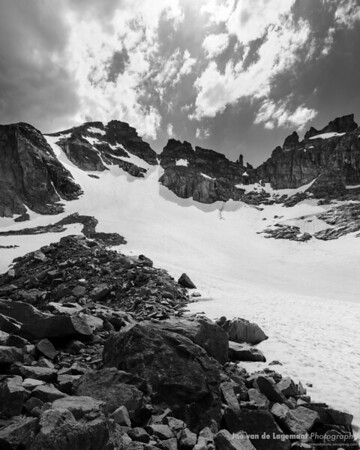 Apache peak and Isabelle Glacier Black and White