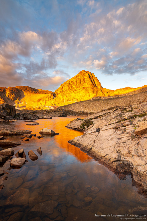 Sunrise hits Mount Toll in the Indian Peaks Wilderness