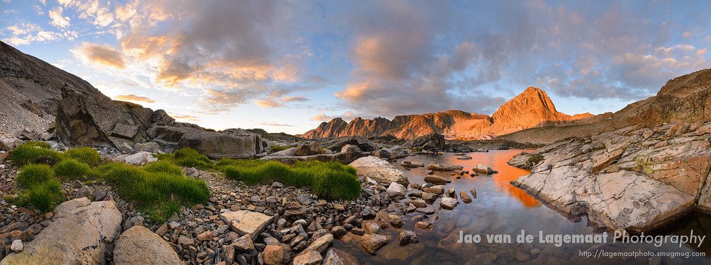 Upper Blue Lake sunrise panorama