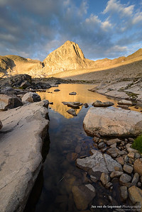 Sunrise on Upper Blue Lake and Mount Toll