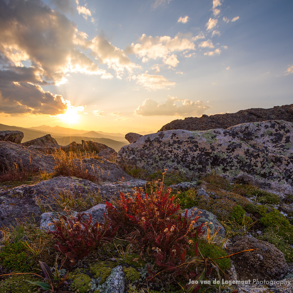Dramatic sunset on Mt. Evans this last fall