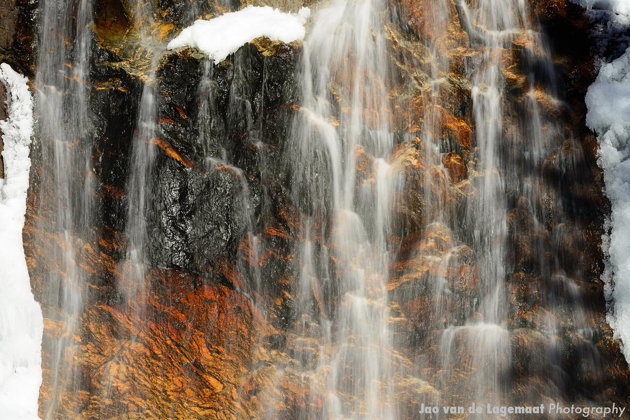 Upper fish Creek falls detail