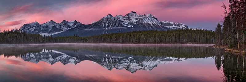 """Pink Dawn"" - Canadian Rockies"