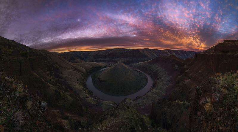 Hershey's Kiss Bend (Panorama)