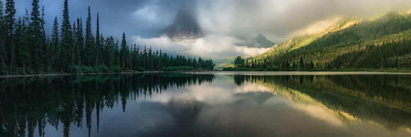 """Dreaming at Pray Lake Panorama"" - Montana"