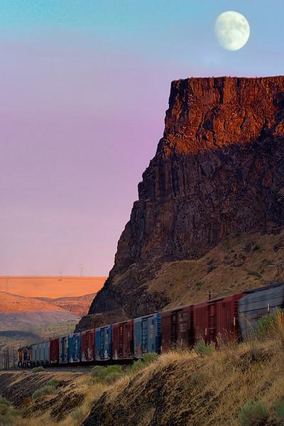 """Moonrise Train"" - Oregon"