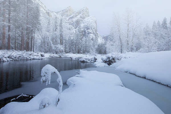 3brothers after snow storm,<br /> Yosemite National Park, CA