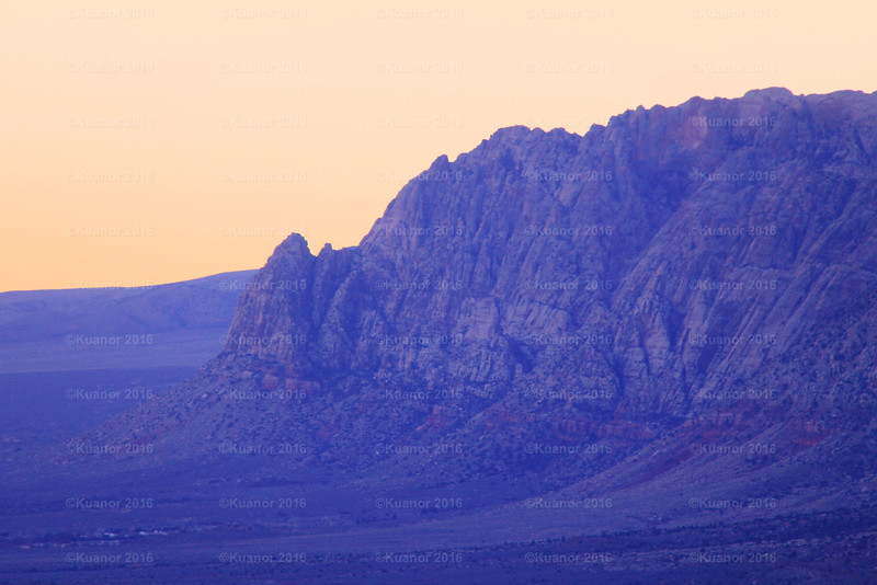 Purple Prepared<br /> Calm purples and mauves highlight the striata of Red Rock Canyon