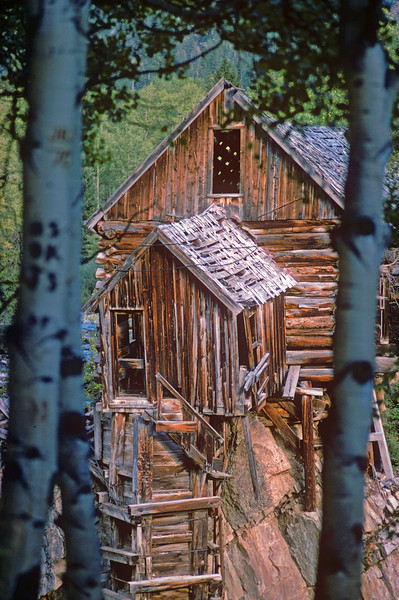 This is the Crystal Mill near Marble Co.  This was before it was repaired.