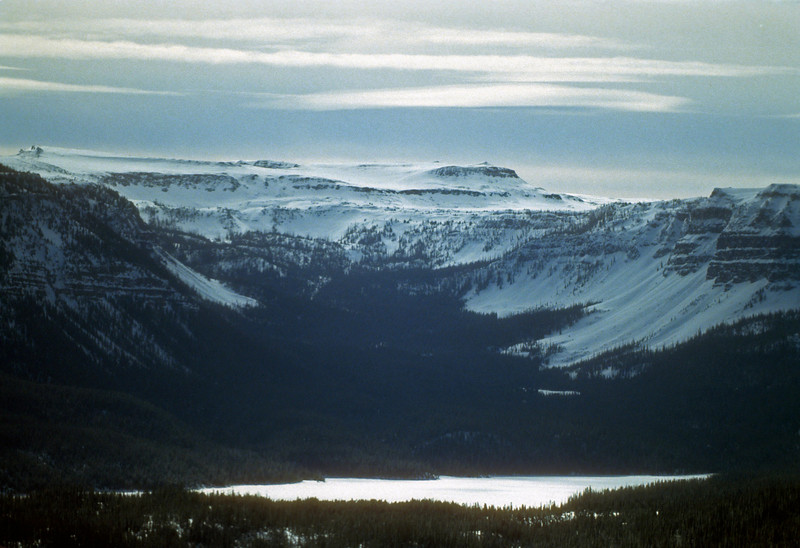 Trappers Lake on a winter day.  I had the good forturne to be able to fly around central Colorado in a small plane, many of the shots are blurred but the planes windows but sometimes you get lucky,