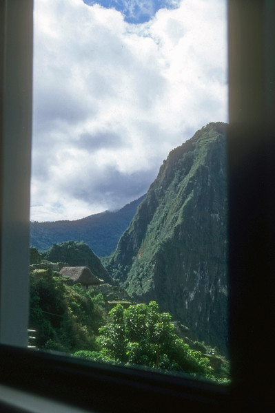 View from our room at Machu Pichu Mt Inn