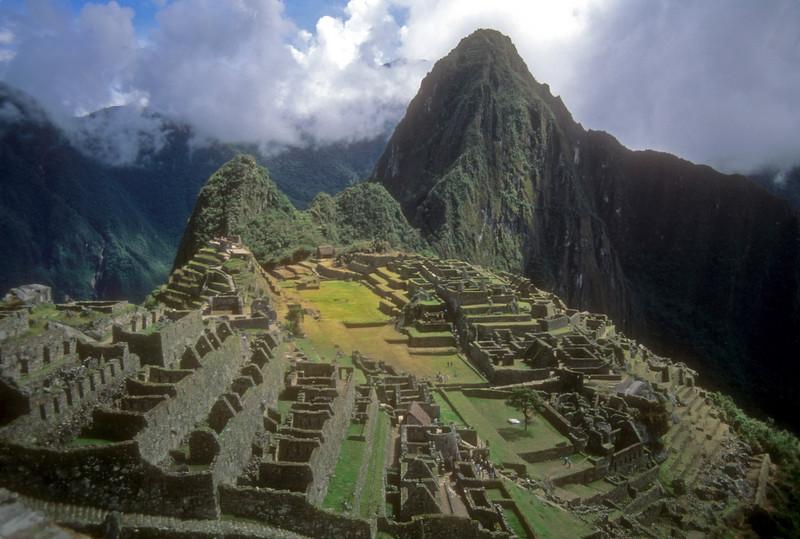 Machu Pichu as you enter from the Inca Trail