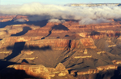 Sunrise at the Grand Canyon, we were lucky to have clouds for definition.